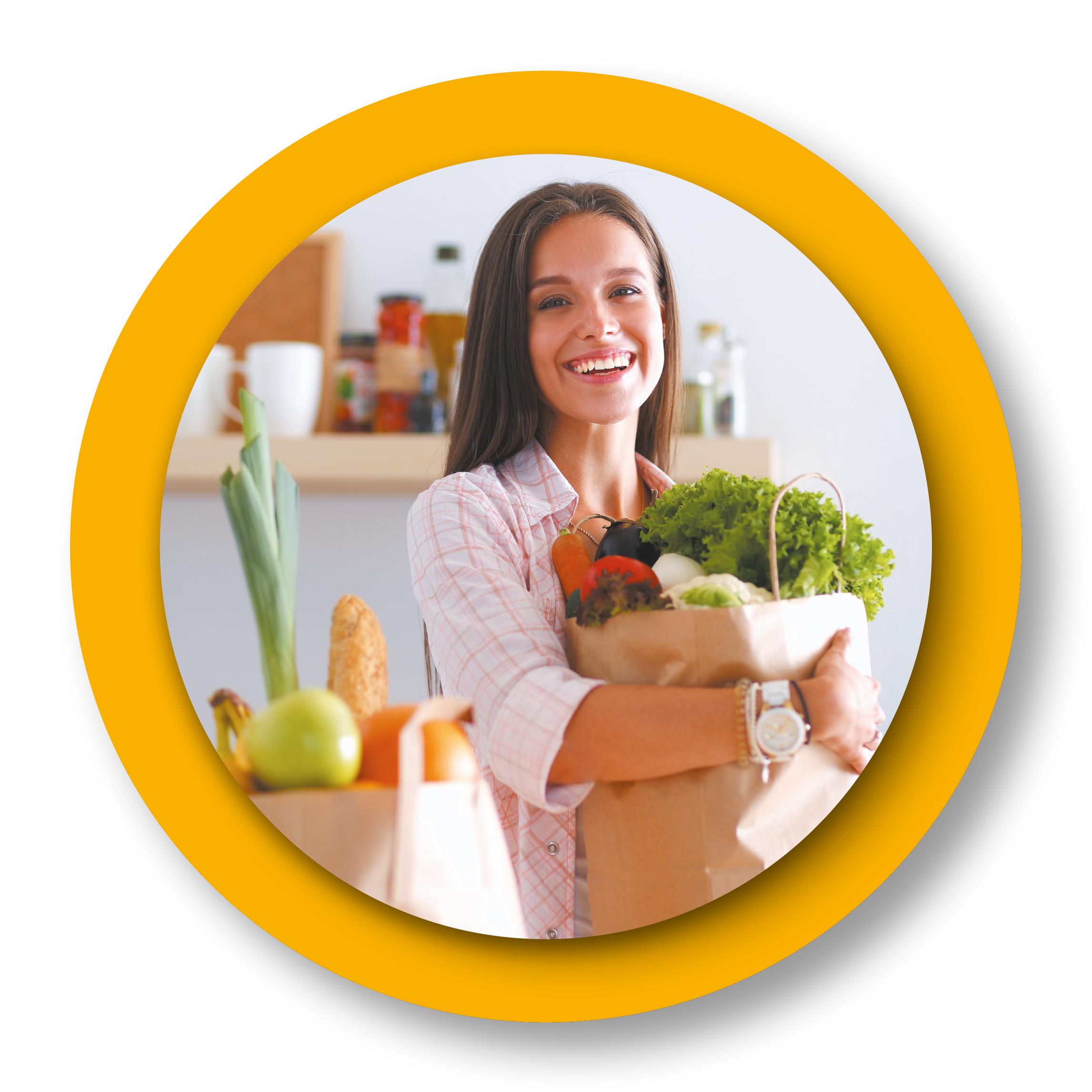 courses de fruits et légumes